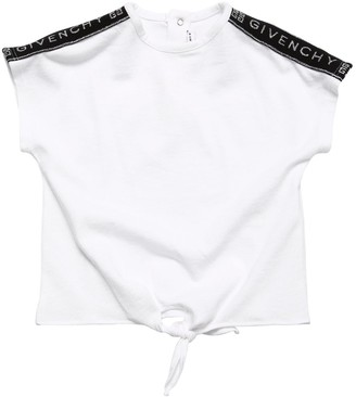 Givenchy Cotton Jersey T-shirt W/ Logo Bands