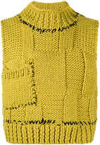 Raf Simons Cropped knitted sweater vest