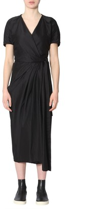Rick Owens Midi Wrap Dress