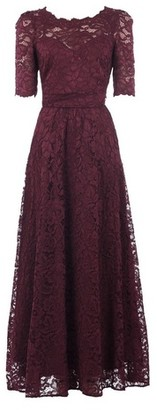 Dorothy Perkins Womens Jolie Moi Burgundy Lace Maxi Dress