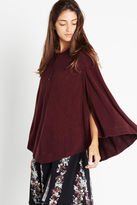 BCBGeneration Capelet Poncho Pullover - Purple