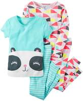 Carter's Girls' 4-Piece Happy Panda Pajama Set