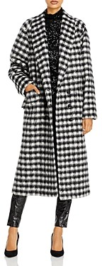 Redemption Carry Over Oversized Plaid Coat