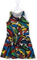 Stella McCartney Mimosa print strokes dress - kids - Cotton - 2 yrs