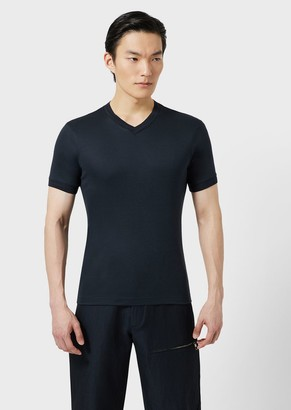 Giorgio Armani T-Shirt In Viscose And Silk Jersey