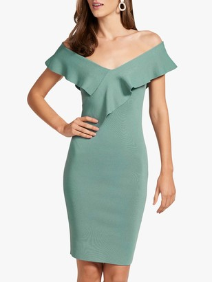 Forever New Sharna Bardot Dress, Pale Green