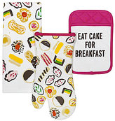 Kate Spade Eat Cake For Breakfast 3-Piece Kitchen Linens Set