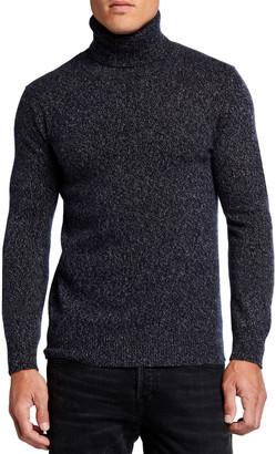 Neiman Marcus Men's Melange Cashmere Turtleneck Sweater