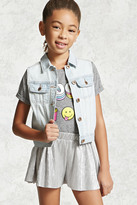 Forever 21 FOREVER 21+ Girls Denim Vest (Kids)