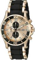 Invicta Men's 80141 Sea Spider Analog Display Japanese Quartz Black Watch