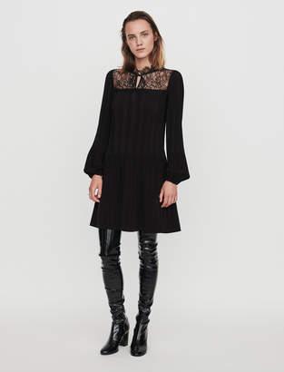 Maje Pleated lace dress
