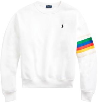 Polo Ralph Lauren Rainbow Striped Logo Sweatshirt