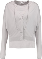 Brunello Cucinelli Cashmere and silk-blend top and cardigan set
