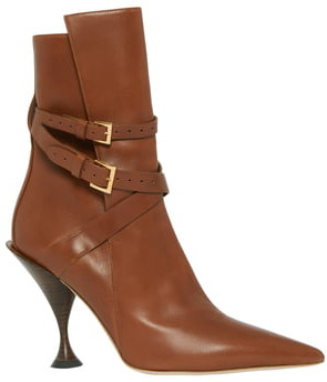 Burberry Hadfield Belted Pointy Toe Bootie