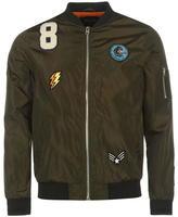 Fabric Lightweight Badged Bomber Jacket Mens