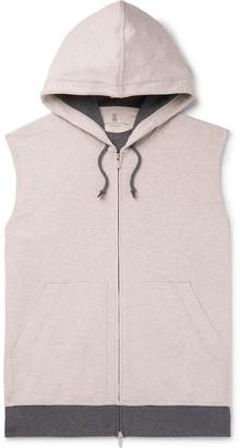 Brunello Cucinelli Slim-Fit Melange Cotton-Blend Jersey Hooded Gilet