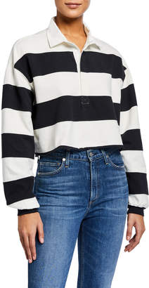 Current/Elliott The 65 Rugby Striped Crop Tee