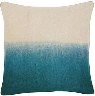 The Piper Collection Jenkins 22x22 Pillow - Turquoise/Ivory