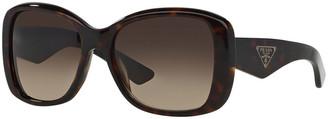 Prada Heritage Logo Square Sunglasses