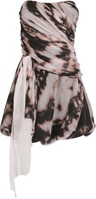 Redemption Draped Tie-Dye Bustier Dress