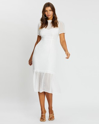 Atmos & Here Genevieve Tiered Midi Dress