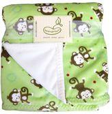 Beansprout monkey fleece blanket
