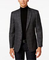 Tommy Hilfiger Men's Slim-Fit Gray/Black Plaid Sport Coat