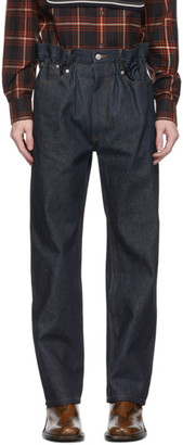 Dries Van Noten Indigo Elasticized Waist Jeans