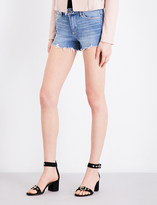 Paige Vera frayed-hem distressed stretch-denim shorts
