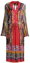 Etro Multi-Knit V-Neck Dress