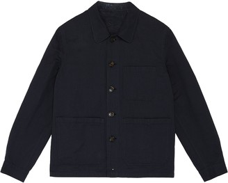 Lardini Linen-wool Blend Shirt Jacket