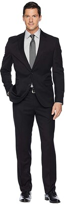 Dockers Pre-Tailored 32 Finished Bottom Hem Suit (Black Solid) Men's Suits Sets