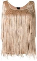 Tom Ford fringed top - women - Polyester/Acetate/Viscose - S