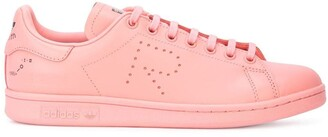 Adidas By Raf Simons pink X raf simons stan smith leather sneakers