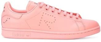 Adidas By Raf Simons pink X raf simons stan smith leather sneakers