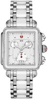 Michele Deco Diamond Ceramic & Steel Watch Head