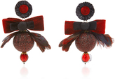 Ranjana Khan Red Disco Ball Earrings