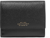 Smythson Panama Textured-leather Wallet - Black