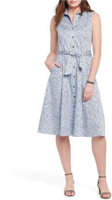 Nic+Zoe Naples Sleeveless Shirtdress