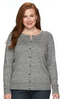 Croft & Barrow Plus Size Button-Front Cardigan