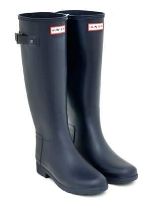 Hunter Navy Rubber Fit Tall Wellington Boot - rubber | 37 | navy - Navy