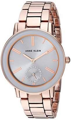 Anne Klein Women's Swarovski Crystal Accented -Tone Bracelet Watch