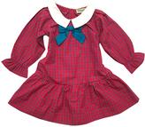 Plaid Collar Ruffle Dress
