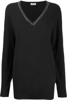 Liu Jo embellished v-neck sweater