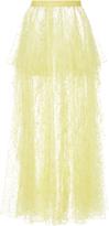 Rodarte Floral Tulle Skirt