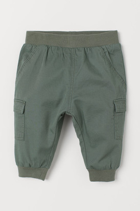 H&M Lined Pull-on Pants - Green