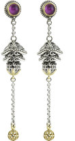 Konstantino Erato Ornate Bulb & Chain Amethyst Doublet Dangle Earrings