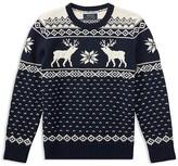 Ralph Lauren Boys' Intarsia Reindeer Sweater - Big Kid