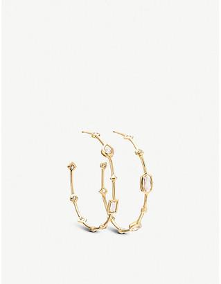 Kendra Scott Mei 14ct yellow-gold and gemstone hoop earrings