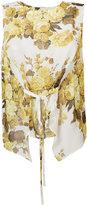 Robert Rodriguez floral tied front top - women - Silk - M